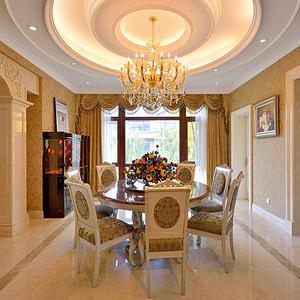 欧式宫廷风格餐厅装修效果图-欧式古典餐厅装修效果图 欧式古典餐厅