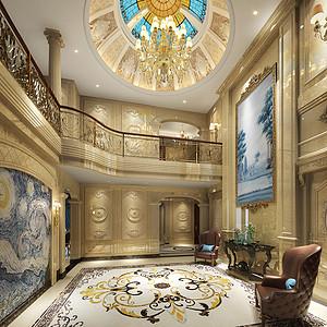龙湫湾欧式风格客厅