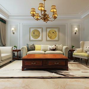 金华小区105平两室二厅简美风格装修案例