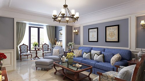 昆明公园1903六室两厅412平米美式风格装修效果图