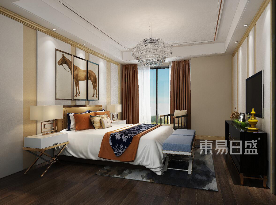 卧室-新中式-效果图