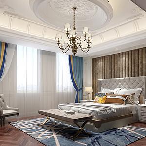 龙湫湾欧式风格卧室