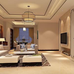 万江圣堤雅-183㎡-新中式-普通住宅 装修效果图