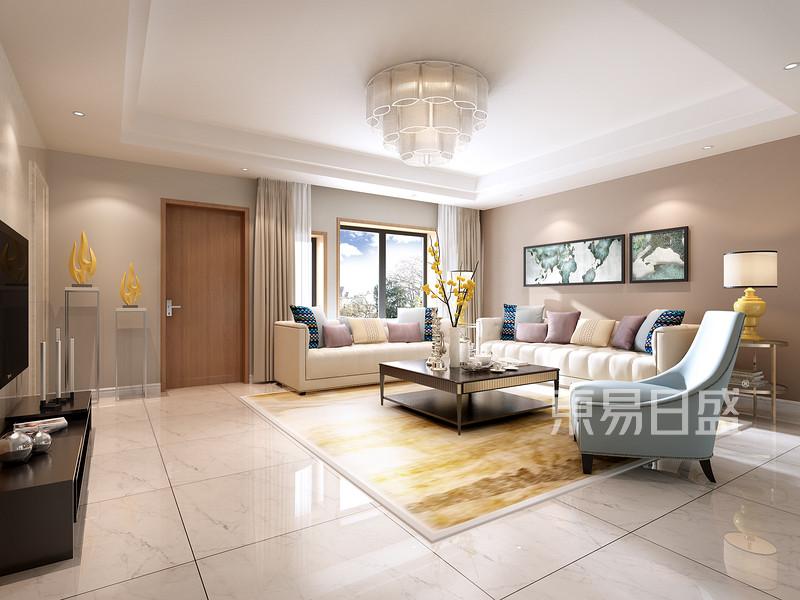 碧桂园600平米美式风格3楼起居室