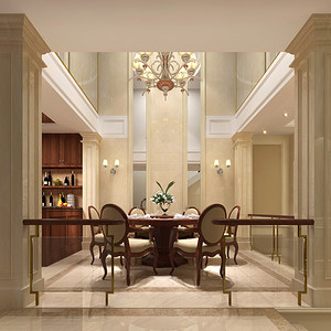 欧式风格 餐厅装修效果图 复式装饰
