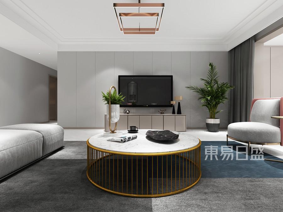 200平米铂悦山简约风格客厅装修效果图