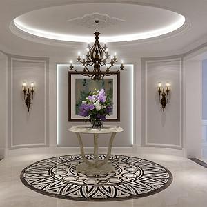 棕榈泉国际公寓-简欧-中厅
