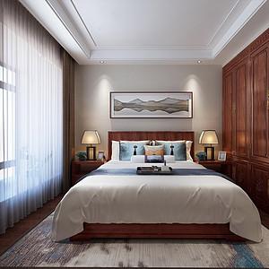 帝景中央五房-新中式风格主卧室