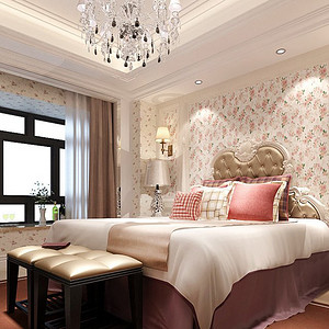 复地东湖国际欧式风格卧室装修效果图