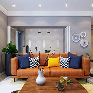 昆明山海湾140平米三室两厅北欧风格装修效果图