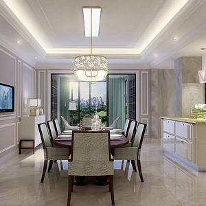 棕榈泉国际公寓-简欧-餐厅