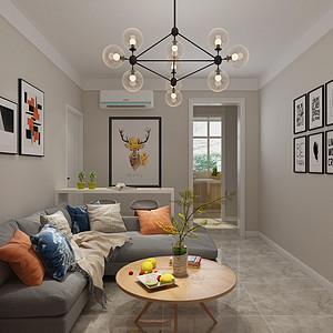 保运宿舍80平二室二厅现代简约风格装修案例