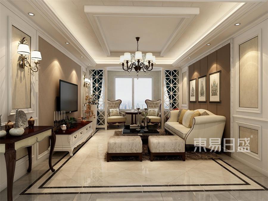 天房天拖欧式风格客厅装修效果图