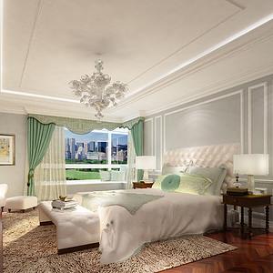 棕榈泉国际公寓-简欧-卧室
