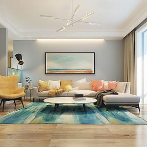 鹿城一号140平三室二厅现代简约风格装修案例