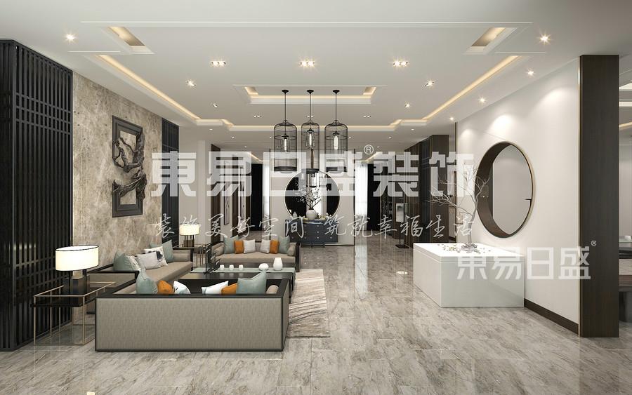 禅意风格-客厅-装修效果图
