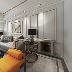 金沙泊岸美式轻奢风格客厅装修效果图
