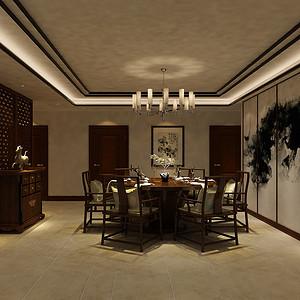国办部长楼-新中式-餐厅