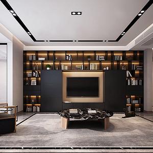 国金华府 现代装修效果图 四室二厅 215平米