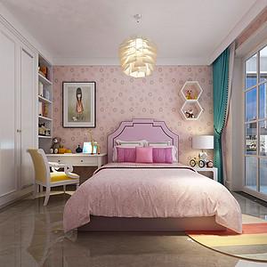 现代新中式风格女儿房装修设计