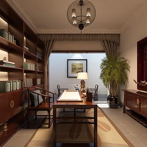 国办部长楼-新中式-书房