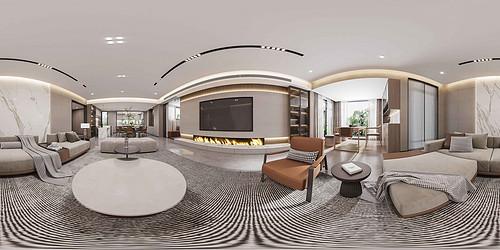 新世界名镌-223平米平层-现代轻奢风格装修设计效果图