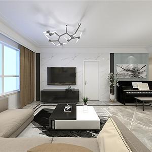 融创中心现代风格客厅装修效果图