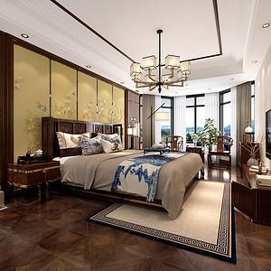 兰宝苑 新中式风格 卧室