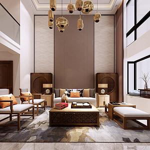 福康花园200㎡五室两厅一厨三卫新中式风格案列