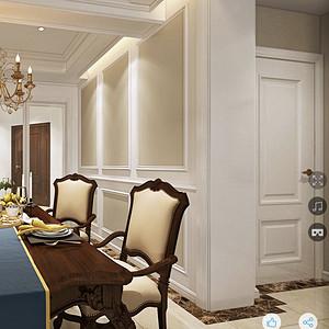 金沙泊岸欧式古典风格餐厅装修效果图