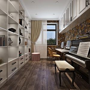 现代美式风格休闲区装修效果图