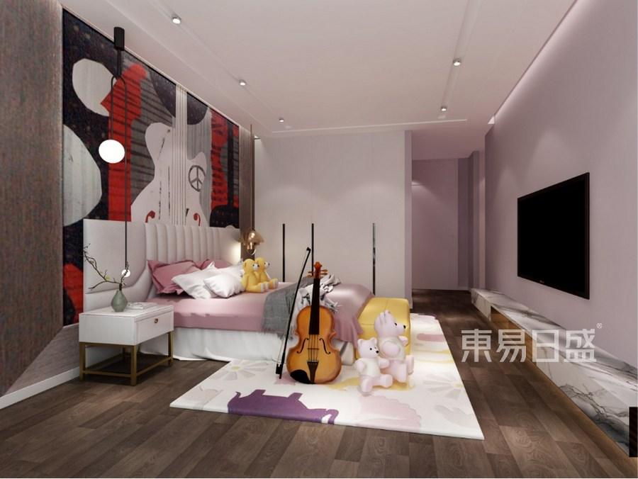 东部华侨城天麓-新中式风格-儿童房效果图