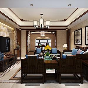 海景蓝湾现代中式291㎡新房装修效果图