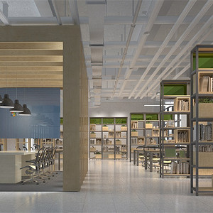 现代简约-二层大办公室