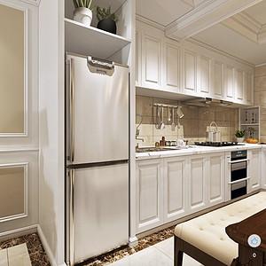 金沙泊岸欧式古典风格厨房装修效果图