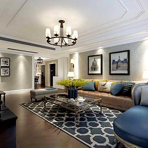 温馨美式风格客厅