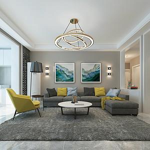 天玺名著138平三室二厅现代风格装修案例