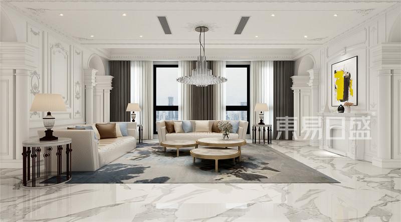 法式- 轻奢风格会客厅装修效果图