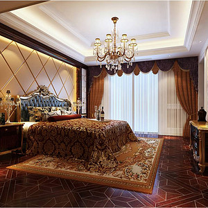 外滩国际公馆 意大利宫廷风格 卧室