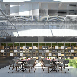 现代简约-二层挑空咖啡室