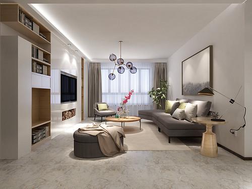 富力华庭三室两厅现代简约设计风格
