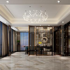 新中式 餐厅装修效果图片 三室两厅