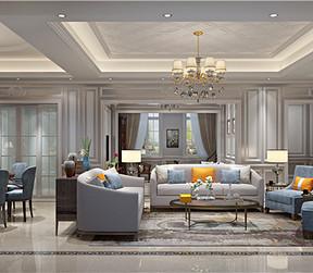 美式风格跃层客厅装修设计效果图
