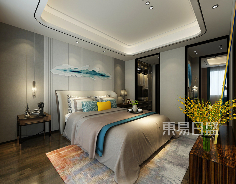 港式轻奢风格卧室装修设计效果图_装修效果图大全2018