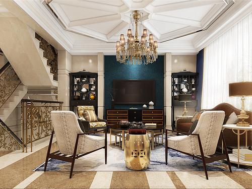 金地紫乐府-新装饰主义-400平米装修设计理念