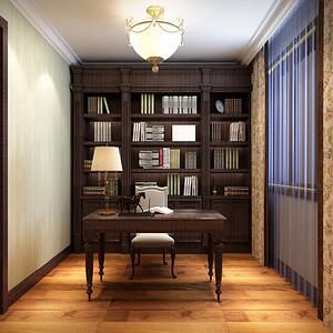 现代混搭风格书房效果图