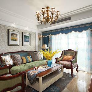 珍珠雅苑-102平-美式风格