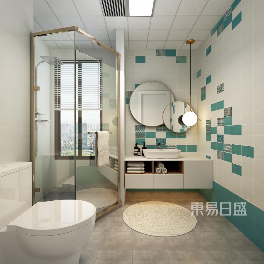四居室-北欧-卫生间-效果图