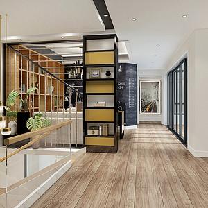 书房走廊现代前卫风格效果图