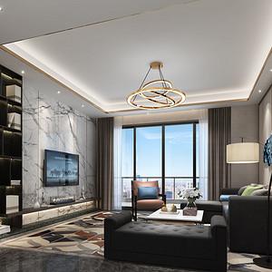 华联城市全景花园H栋02户型 后现代风格 154平米 三室两厅